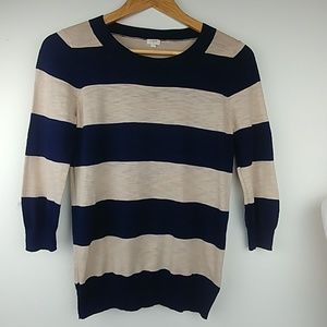 J.Crew cotton fine knit, lightweight sweater top
